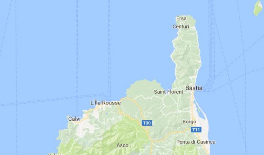 corsica map ajaccio